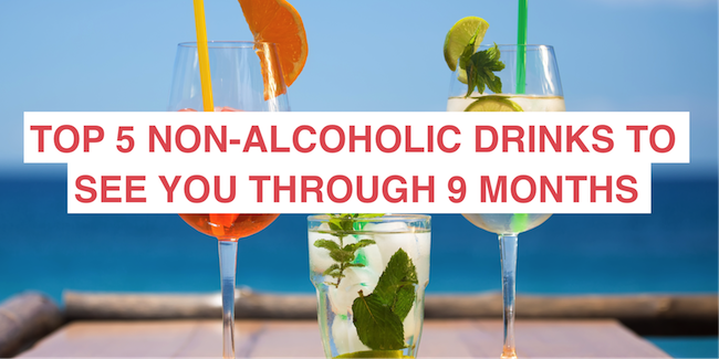 Top 5 non-alcoholic drinks to get you through the 9 months (or more) of being teetotal